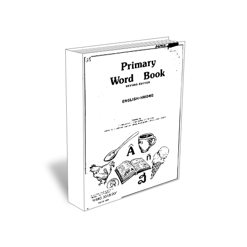 Green Hmong Primary Word Book