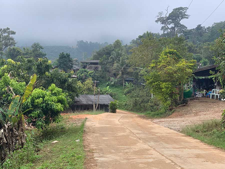 road in hmong village