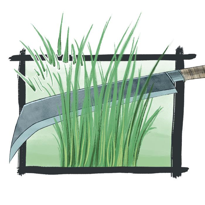 luaj - to cut down weeds